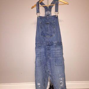 Gap denim overalls